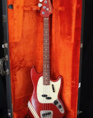 Fender Mustang Bass Competition Red / Matching Headstock 1968